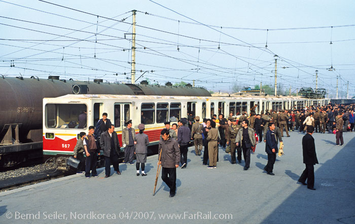 North Korea: East German metro in use on the main line