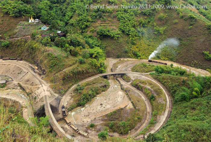 Burma Mines Railway: Spiral before Wallah Gorge