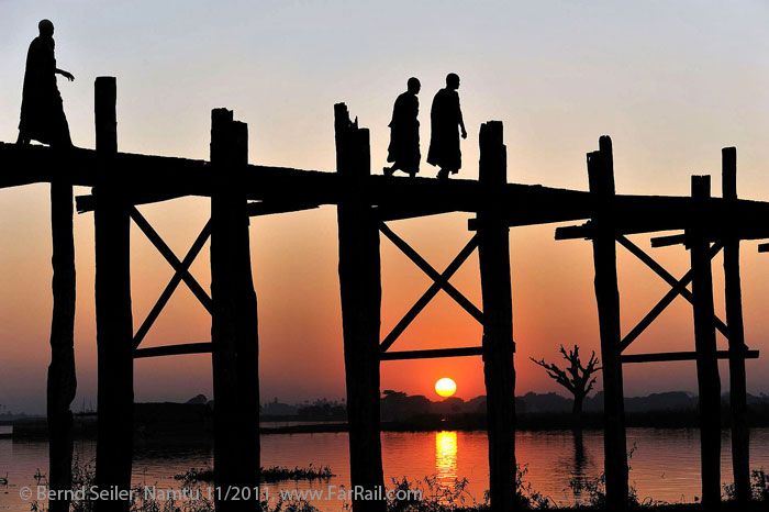 U-Bein bridge near Mandalay