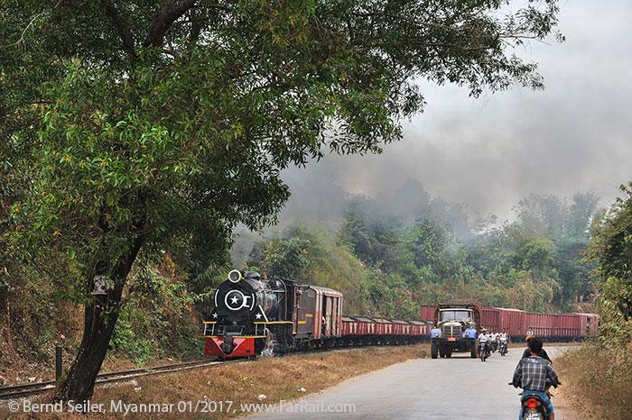 State Railway Steam In Myanmar Burma 2017