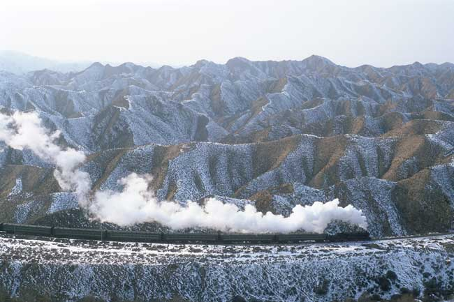 Steam through the loess mountains: Baiyin