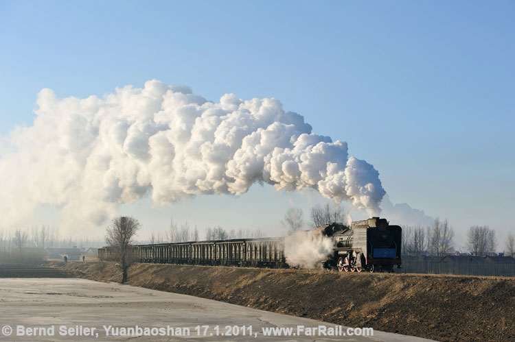Yuanbaoshan - on its way to the state railway interchange yard