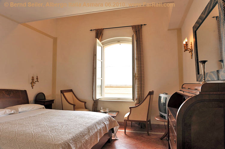 room in the Albergo Italia Hotel (the more expensive one)