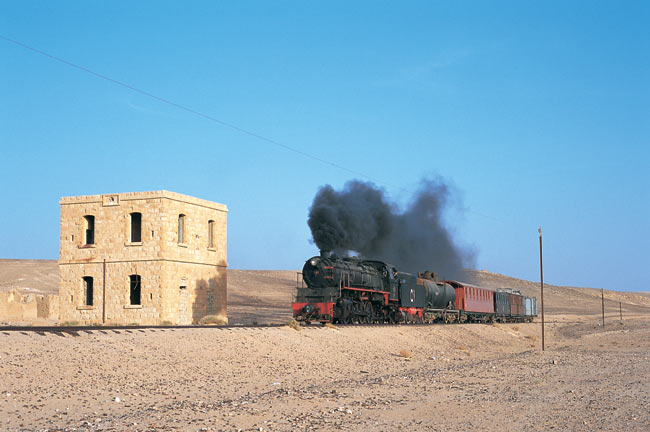 Hedjaz railway today: closed stations, here south of Amman, photo: Florian Schmidt
