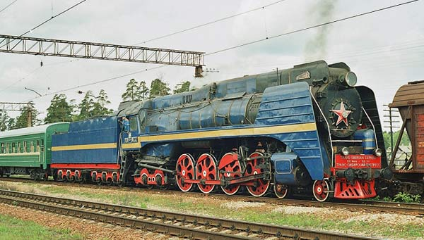 Russian Express train locomotive class P36
