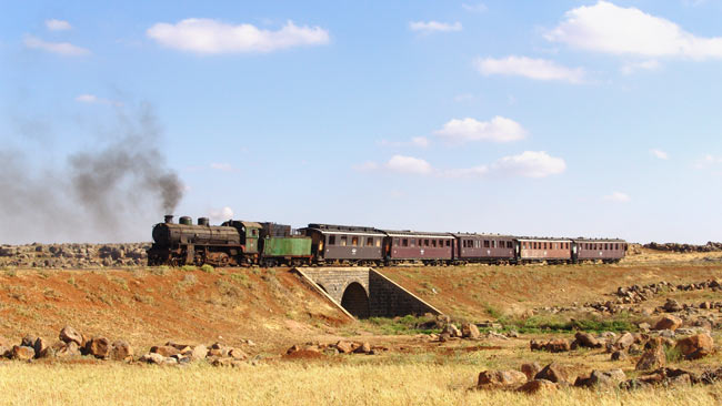 locomotive no. 262 in Syria, photo: Alfons Stettner