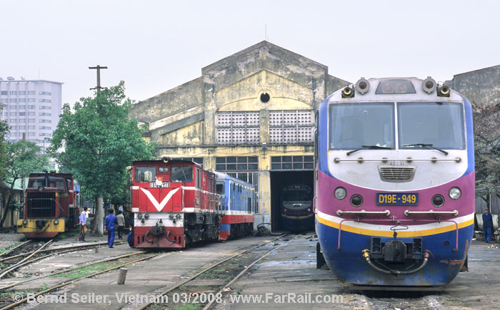 Diesel depot next to Hanoi main station