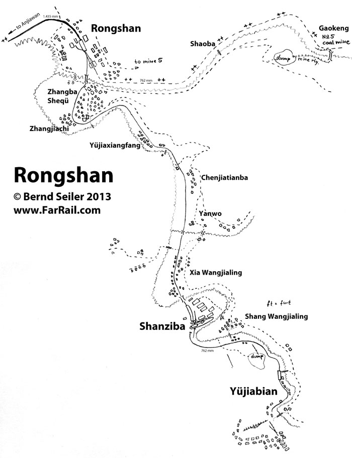 map of the narrow gauge railway Rongshan