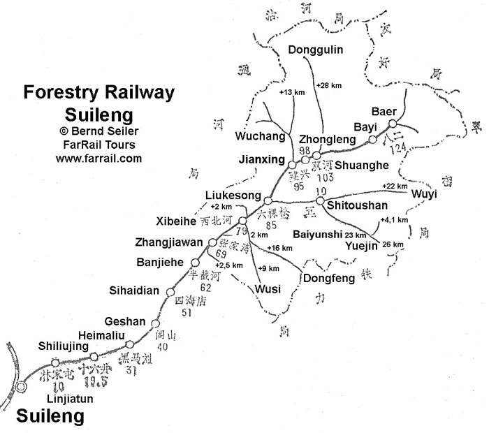 Forestry line Suileng map