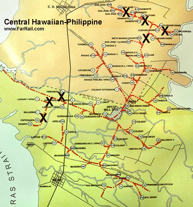 map Hawaiian-Philippine on Negros